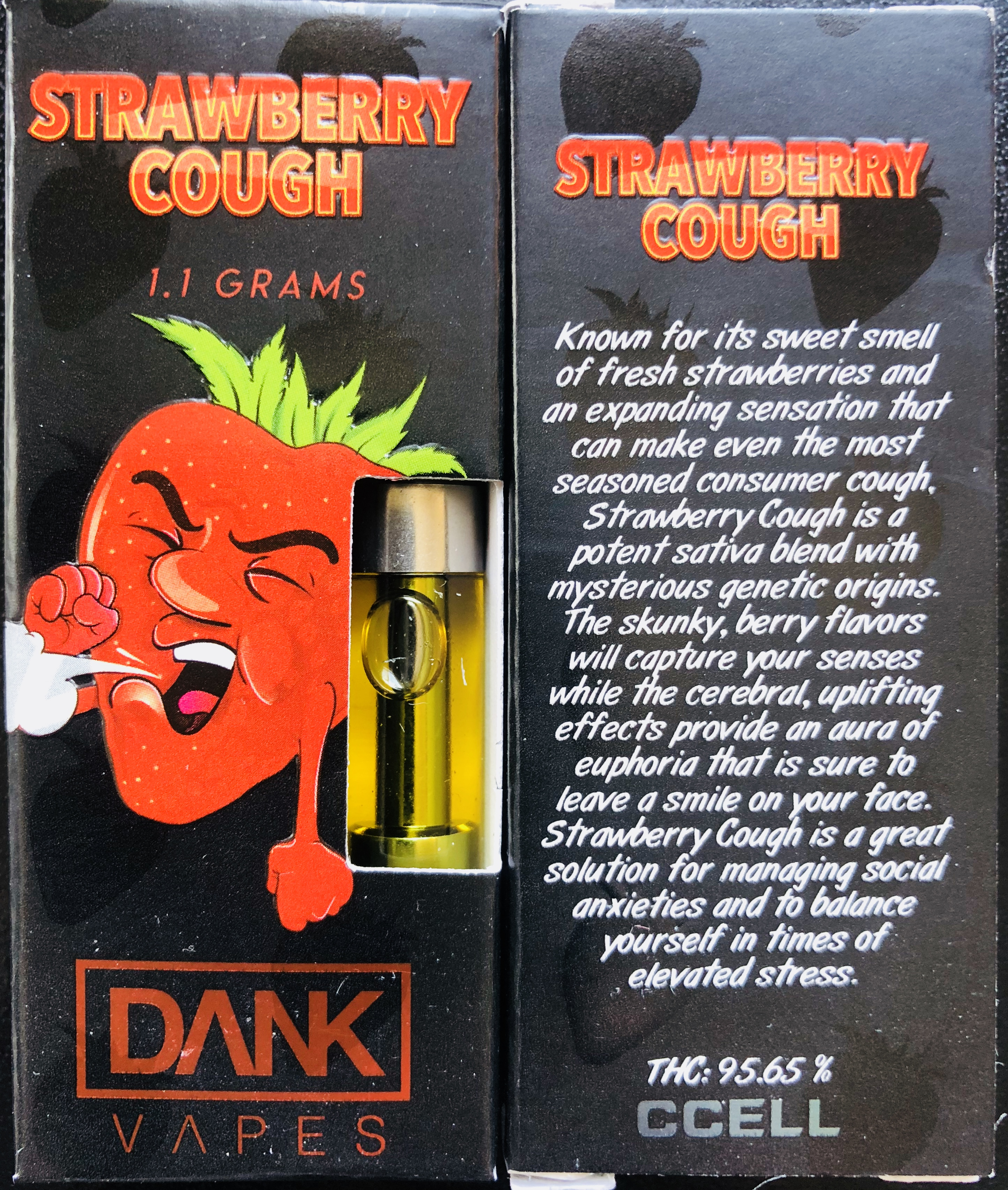 DANK VAPES: Strawberry Cough | Cannabis Menus By